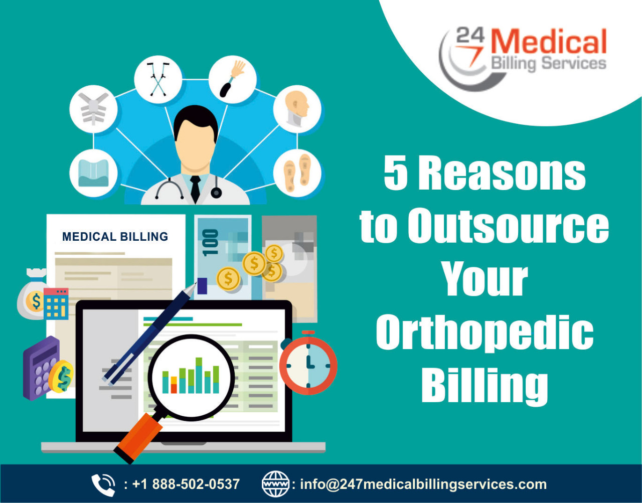 5 Reasons to Outsource Your Orthopaedic Billing, Medical Billing Services, Orthopaedic billing, Oursourcing medical billing